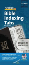 BIBLE INDEXING TABS LG.PRT SILVER