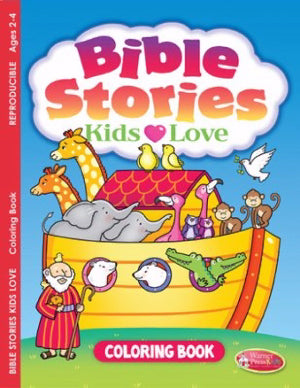BIBLE STORIES KIDS LOVE COLOURING BOOK