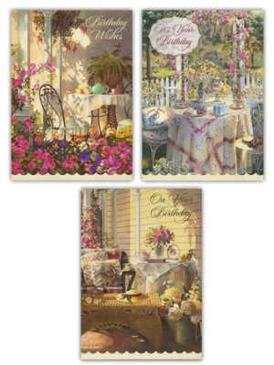 BOXED CARDS - BIRTHDAY - TIME FOR TEA