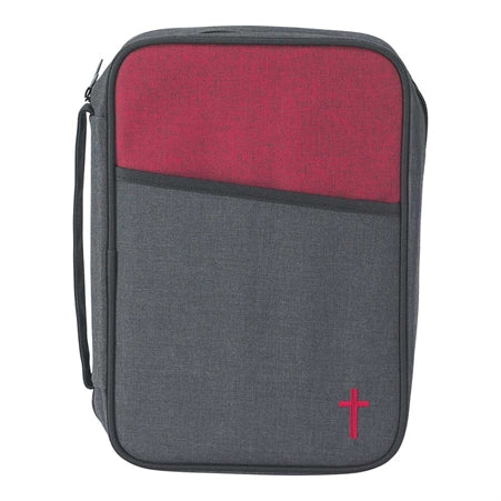 BIBLE CASE - LG TWO TONE RED