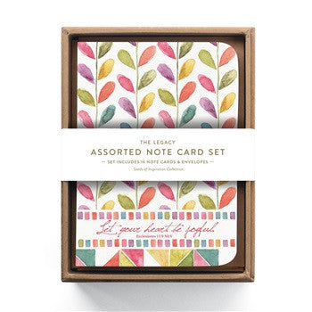NOTE CARD SET -  LET YOUR HEART - 16CT
