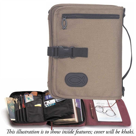 BIBLE CASE - TRAVEL ORGANIZER KHAKI XL