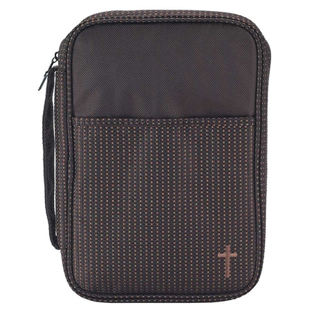 BIBLE CASE - BROWN LG CROSS