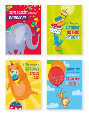 BOXED CARDS - BIRTHDAY - JUVENILE