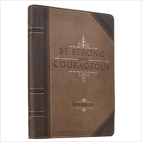 JOURNAL - BE STRONG JOSH. 1:9 ZIPPERED