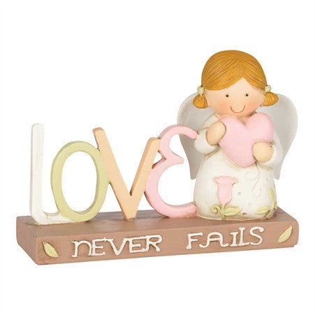 RESIN ANGEL - LOVE NEVER FAILS