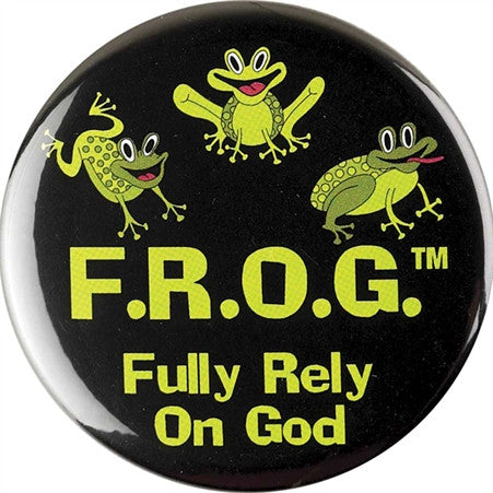 BUTTON - F.R.O.G. GREEN