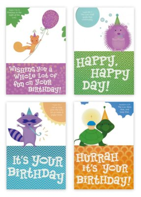 BOXED CARDS - BIRTHDAY - CUTE CRITTERS JUVENILE