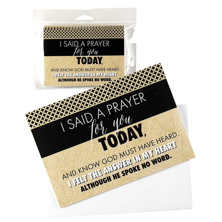 CARDS PKG - I SAID A PRAYER - 10PK