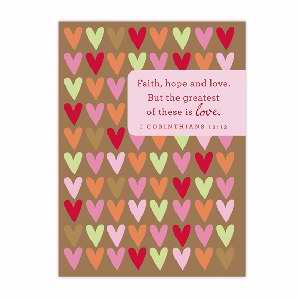 VALENTINE CARDS - VALENTINE NOTES - FAITH HOPE LOVE