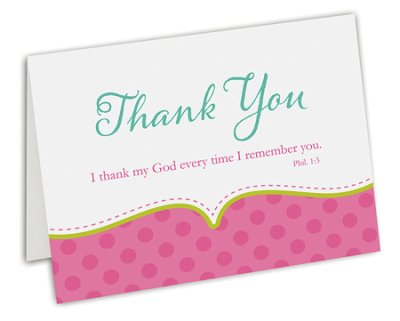 CARDS - THANK YOU PINK