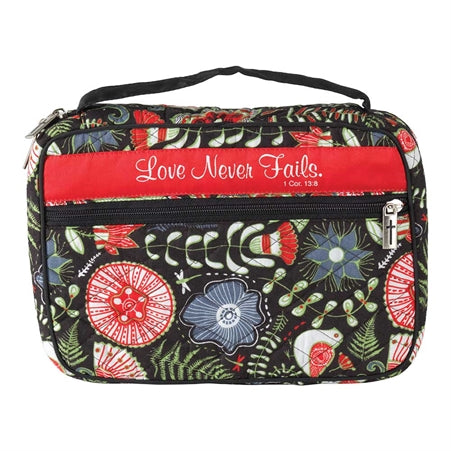 BIBLE CASE - QUILTED - LOVE NEVER FAILS