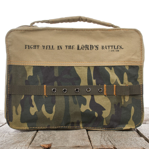BIBLE CASE - CAMOUFLAGE - FIGHT WELL