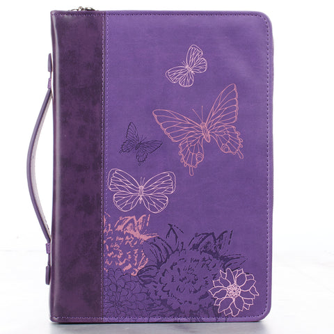BIBLE CASE - LUXLEA  PURPLE - NEW CREATION