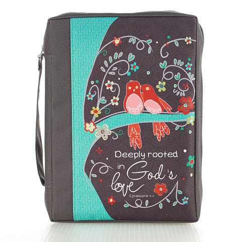 BIBLE CASE - CANVAS - GOD'S LOVE LG GREY