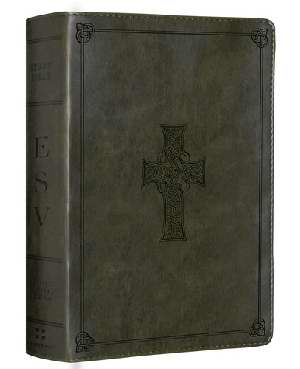 ESV - STUDY PERS. OLIVE CELTIC CROSS