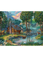 JIGSAW PUZZLE - HOUSE BY THE LAKE - 1000PC