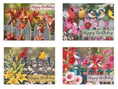 BOXED CARDS - BIRTHDAY - BIRDS