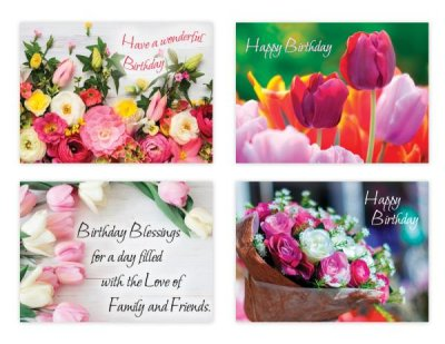 BOXED CARDS - BD - FLOWERS