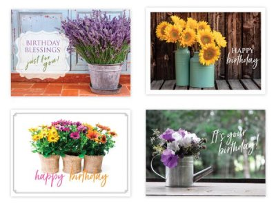 BOXED CARDS - BD - FLOWERS IN VASE
