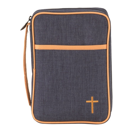 BIBLE CASE - DENIM CANVAS MD