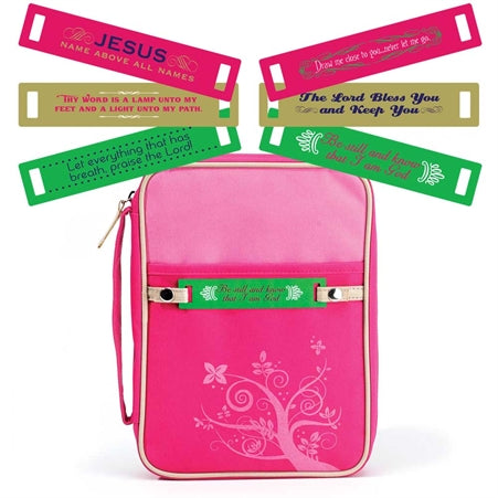 BIBLE CASE - HOT PINK - CHANGEABLE TAG MD