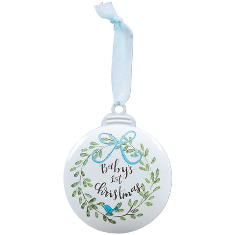 BABY'S FIRST CHRISTMAS BLUE ORNAMENT