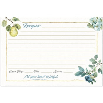RECIPE CARDS - FRUIT BRANCHES - 50