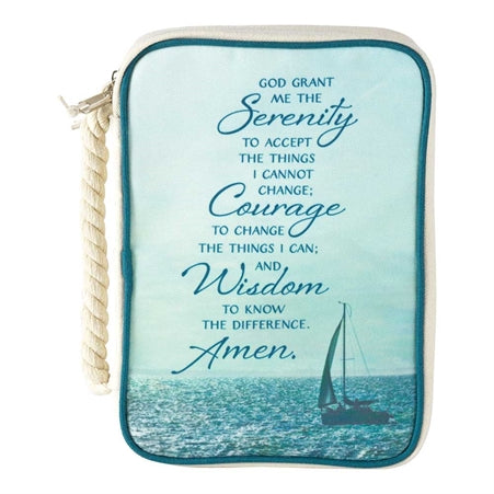 BIBLE CASE - CANVAS - SERENITY PRAYER LG