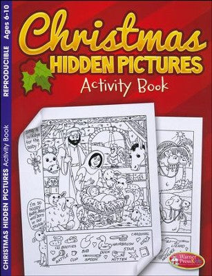 COLOURING BOOK - CHRISTMAS HIDDEN PICTURES