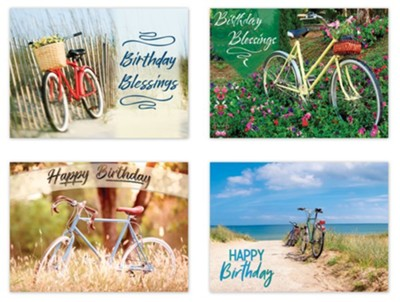 BOXED CARDS - BIRTHDAY - BIKES