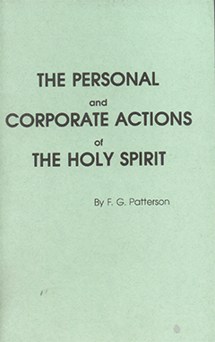 PERSONAL & CORPORATE ACTIONS OF THE HOLY SPIRIT - PAMPHLET