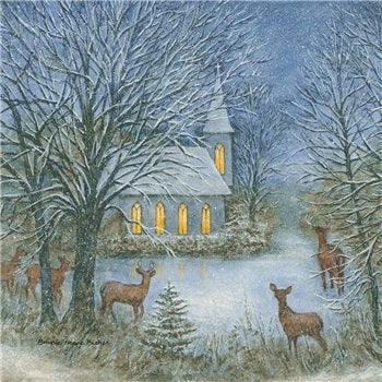 COASTER - DEER WITH CHURCH
