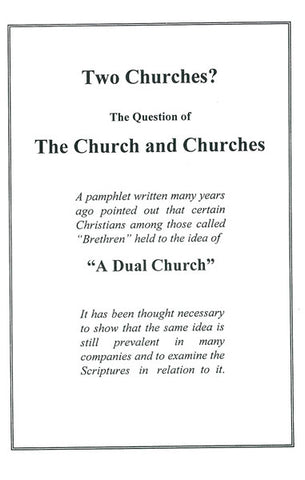 TWO CHURCHES? M. BEST - Paperback