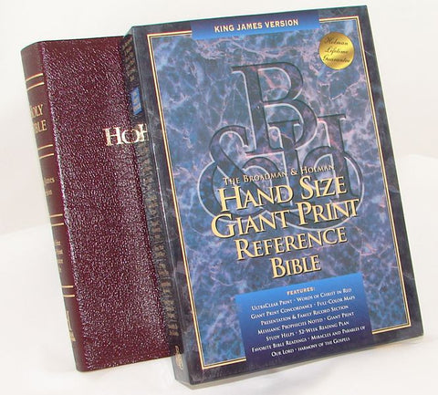 KJV HANDSIZE GP REF INDEXED BURG BOND