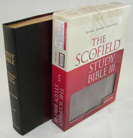 THE  SCOFIELD STUDY BIBLE  - KJV/INX/BLK/BURG