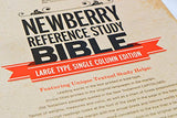 NEWBERRY REFERENCE STUDY BIBLE - BLACK CALFSKIN LEATHER