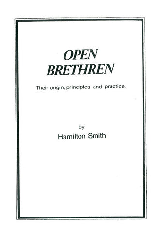 OPEN BRETHREN, HAMILTON SMITH - Paperback