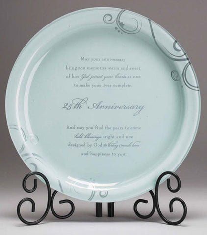 25th ANNIVERSARY GLASS PLATTER