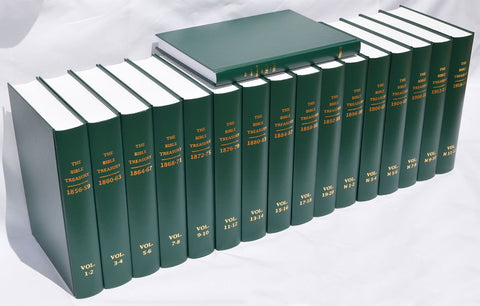 THE BIBLE TREASURY 16 VOL SET + INDEX - WILLIAM KELLY