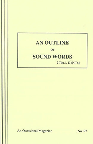 AN OUTLINE OF SOUND WORDS, HAMILTON SMITH - Paperback