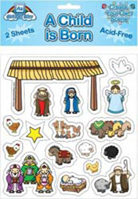 NATIVITY CHRISTMAS STICKER SET-CHRISTMAS