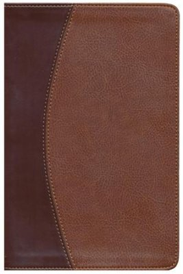 NASB THINLINE BIBLE MAH/CHOC BONDED LEATHER