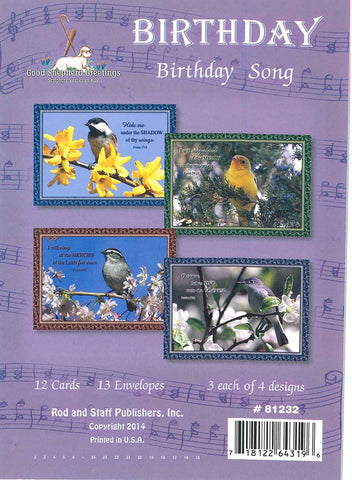 BOXED CARD - BD - BIRTHDAY SONG