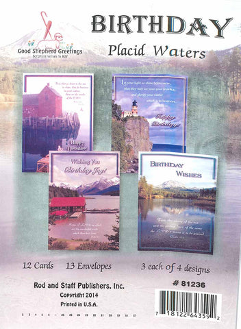 BOXED CARD - BIRTHDAY - PLACID WATERS