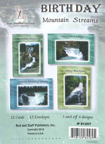 BOXED CARD - BIRTHDAY - MOUNTAIN STREAMS