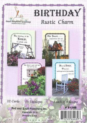 BOXED CARD - BIRTHDAY - RUSTIC CHARM