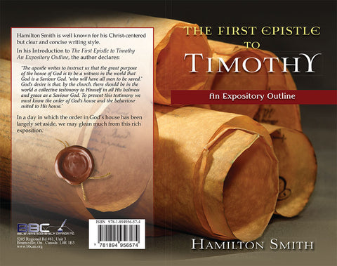 THE FIRST EPISTLE TO TIMOTHY - HAMILTON SMITH - PAPERBACK
