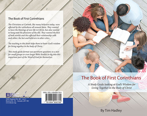 THE BOOK OF FIRST CORINTHIANS, TIM HADLEY- WORKBOOK