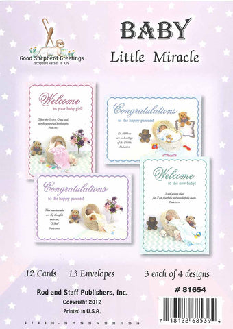 BOXED CARD - BABY - LITTLE MIRACLE